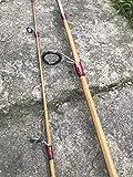 zhurod New Bamboo Spinning Fishing Rod,6'0',2 Piece UL