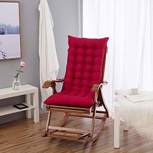 LJ Home Cojín Reclinable De Otoño/Invierno Cojín De Silla Larga Engrosada Adecuado para Sofá/Silla De Oficina/Silla De Jardín,Winered48*120cm