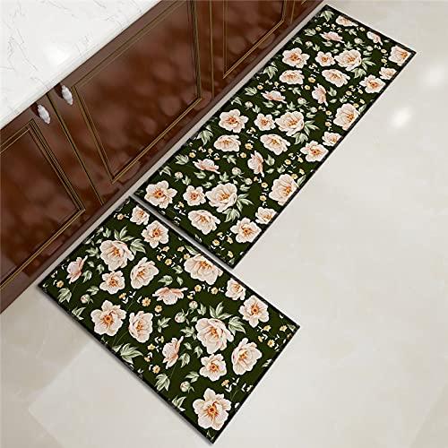 ZAZN Home Plant Printing Kitchen Carpet Anti-Slip Wear-Resistant Foot Mat Bathroom Door Mat Machine Washable Carpet