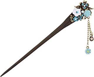 Frcolor . Hair Stick Vintage Hair Pin Women Hair Styling Hair Making Accessory (Blue)