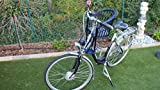 Marcus Kinderfahrradsitz in blau vorn Fahrradsitz Fahrradkorb Lenkerkorb Weidenkorb Weide (Blau mit Kissen)
