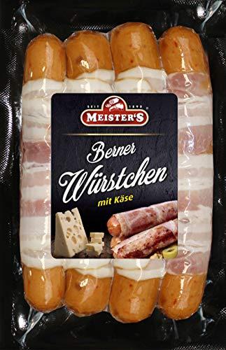 Berner Würstchen mit Käse & Bacon | Käsewurst geräuchert | Bratwurst fein | BBQ Griller zum Braten & Grillen 300g
