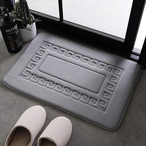 Alfombrilla Antideslizante Absorbente para baño Alfombra para Puerta de casa, Gris Agua, 40 * 60 cm