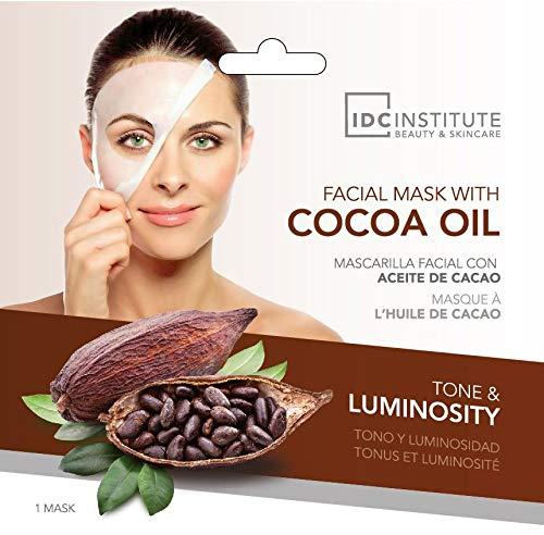 IDC INSTITUTE, Mascarilla hidratante y rejuvenecedora para la cara, Cacao - 22 gr.12 unidades por caja