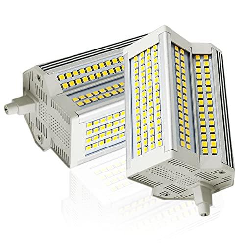 2-PC Bombillas LED R7S 118mm Reemplazo de lámpara halógena de 500W LED de Doble Extremo R7S Base Luz de Reflector 220 ° Ángulo de Haz Regulable Blanco cálido 3000K
