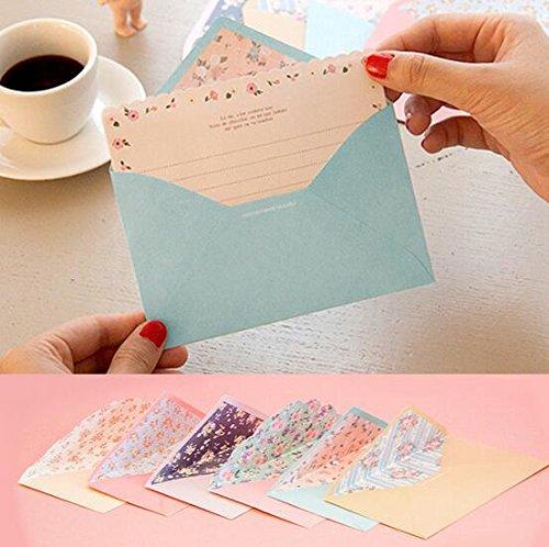 Funcoo - 48 bonitas hojas de escritura con 24sobres + 1sello adhesivo para hoja de etiquetas