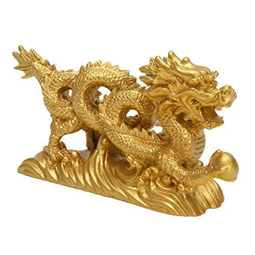 Yongse hars gouden draak beeldje ornamenten Chinese Geomancy huis kantoor decoratie
