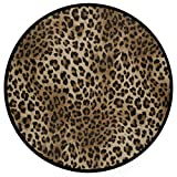 Sexy Leopard Print Doormat Wild Animals Snakeskin Zebra Pattern Round Floor Mat Washable Non-Slip Indoor Outdoor Area Rug for Bedroom Living Room Home Decor 36'