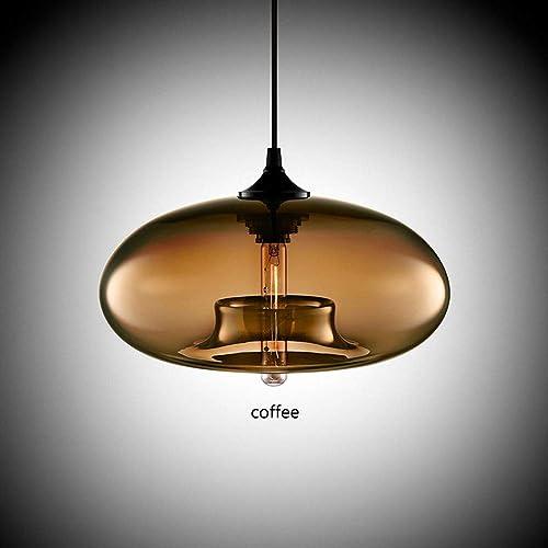 BDYJY Lustre en Verre teinté Plafond décoration Restaurant décoration Lustre moléculaire Moderne beauté Suspension E27 (Couleur  café)