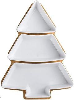 Voorgerechtborden Kerstboomvormige keramische plaat Huishoudelijke onregelmatige dessertbord Fruitschaal Ontbijtbord Gedro...