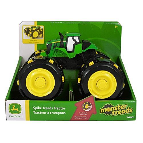 TOMY Monster Treads Spike Räder - Satz mit 4 ausfahrbaren Spike Reifen für den Spielzeugtraktor John Deere Monster Treads – Zum Spielen und Sammeln – ab 3 Jahren