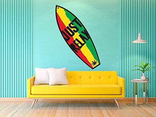 Oedim Tabla de Surf Just Relax | 150x45cm | Fabricado en Vinilo Adhesivo Resistente y Económico | Pegatina Adhesiva Decorativa de Diseño Elegante