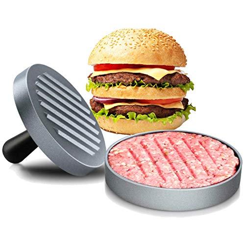 ICEWHWWL Pressa per Hamburger Pressa Stampa in Alluminio + 150 Carta Antiaderente, Manico in ABS, Macchinetta Antiaderente per Patty, BBQ, Grill e Cucina