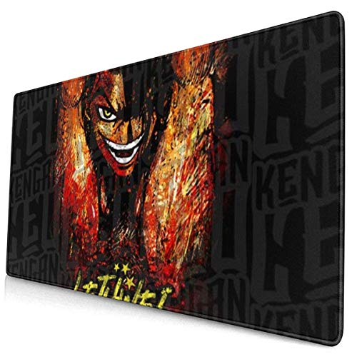Extra Large Mouse Pad -Saw Paing Kengan Ashura Omega Unbreakable Desk Mousepad - 15.8x29.5in (3mm Thick)- XL Protective Keyboard Desk Mouse Mat for Computer/Laptop