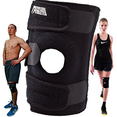 Active Athletes - Tutore per ginocchio, supporto aperto sulla rotula, ideale per artrite, legamento crociato anteriore e meniscosi