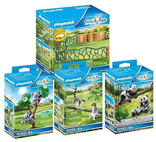 PLAYMOBIL Zoo 70347 70352 70353 70355 - Juego de 4 piezas
