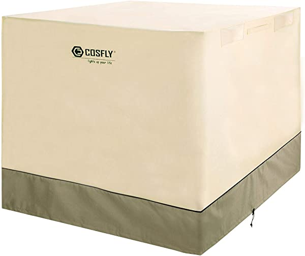 COSFLY Air Conditioner Cover For Outside Units Durable AC Cover Water Resistant Fabric Windproof Design Square Fits Up To 36 X 36 X 39 Inches