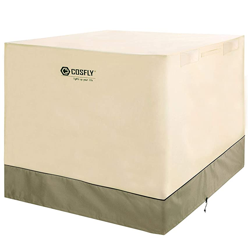 COSFLY Air Conditioner Cover for Outside Units-Durable AC Cover Water Resistant Fabric Windproof Design -Square Fits up to 36 x 36 x 39 inches