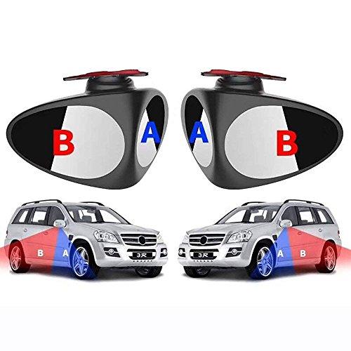 Preisvergleich Produktbild Manfore Seitenspiegel Toter Winkel / Toter Winkel Spiegel HD Glass 360 Grad Rotation Verstellbar Rückspiegel,  Konvexen Toter Winkel Spiegel Hilfe Blind-Spot(Links + Rechts)