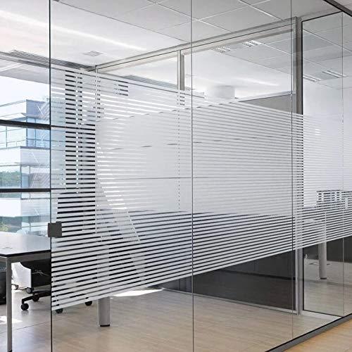 LMKJ Película para Ventanas de Oficina a Rayas,Etiqueta de Vinilo para vidrieras,película de Vidrio para Ventana esmerilada de privacidad Impermeable Moderna A84 60x100cm