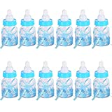 Botella de Caramelo,12 Piezas Biberones Dulces Biberón de Plástico Caja para Caramelos Regalo para Baby Shower Suministros Decoración de Cumpleaños