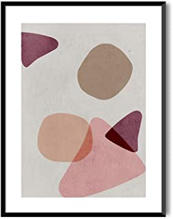 MILUKA Láminas Decorativas para enmarcar colección Geometric | Young Wine | Tamaño 20x30cm, 30x40cm, 50x70cm (20 x 30 cm)