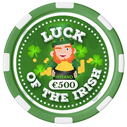 """Carrolls Irish Gifts Irischer Pokerchip mit """"Ireland""""-Text und Leprechaun-Design"""
