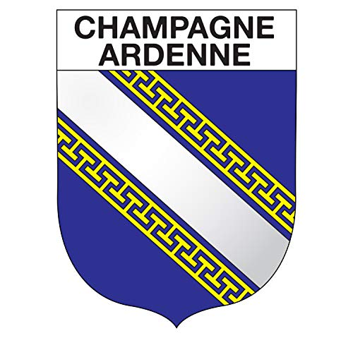 Supstick sticker voor regio Champagne-Ardenne, formaat 15 x 12 cm