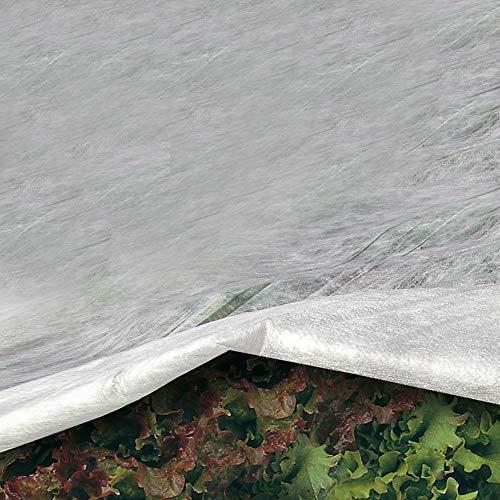 Tenax Ortoclima Plus - Velo protector para cultivos 30 g/m², 2,40 x 10 m, color blanco, para invierno, en bolsa, TNT tejido no tejido pesado