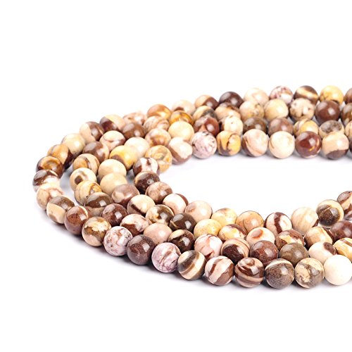 Ruilong Perles d'agate d'Austrulia pour la fabrication de bijoux - 4 mm, 6 mm, 8 mm, 10 mm, 12 mm (8 mm)