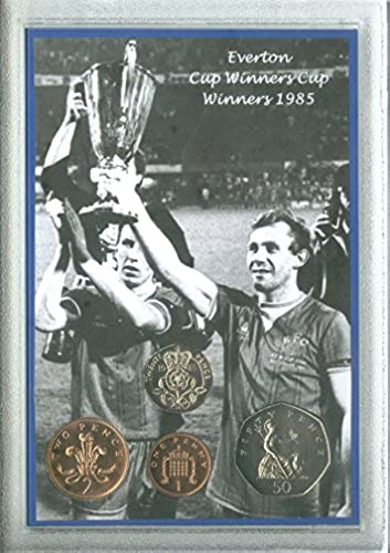 EGrünon (The Toffees) Vintage European Cup Winners Cup Final Winners Retro Coin Present Display Gift Set 1985