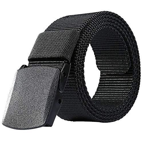 ALAIX Atmungsaktiver taktischer Taillengürtel aus Nylon mit doppelten Kunststoffschnallen für Herren Einheitsgröße Schwarz