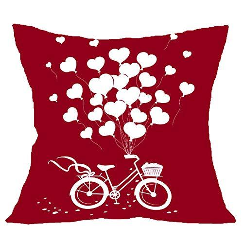 Eaylis Kissenbezug zum Valentinstag Dekorativer Kissenbezug Kissenhülle Kreativer Kissenbezug Festival Zierkissenbezüge Kissenhülle Zierkissen Home