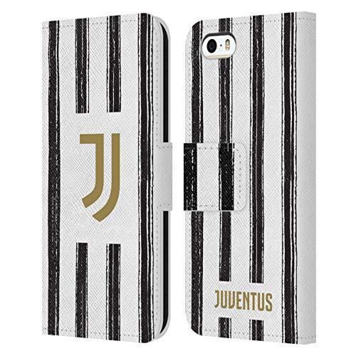 Head Case Designs Ufficiale Juventus Football Club in Casa 2020/21 Kit Abbinato Cover in Pelle a Portafoglio Compatibile con Apple iPhone 5 / iPhone 5s / iPhone SE 2016