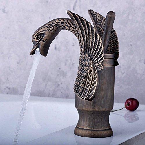 Maifeini - Grifo monomando para lavabo, diseño de cisne pequeño