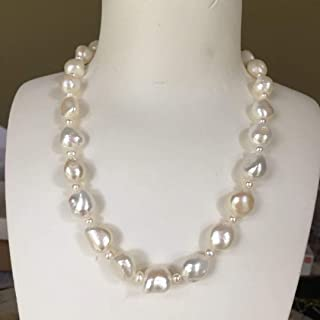 AAA Fashion Natural Brown 7-9 mm Baroque Freshwater Pearl Necklace Long 36