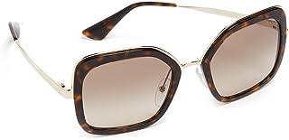 PRADA Women's 0PR57US 2AU3D0 54 Sunglasses, Havana/Browngradientgrey (0PR57US 2AU3D0 54 2AU3D0)