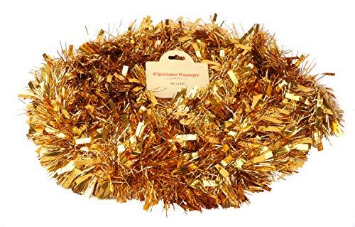 Christmas Concepts® Chunky/Fine Weihnachten Lametta -4 Meter - Weihnachtsdekoration (Gold)