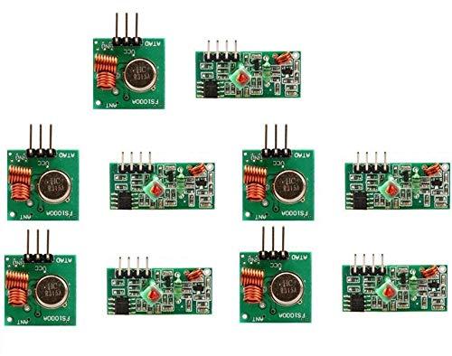 DollaTek 5Pcs 433 MHz RF sans Fil Émetteur et Module récepteur Kit pour Arduino Raspberry Pi