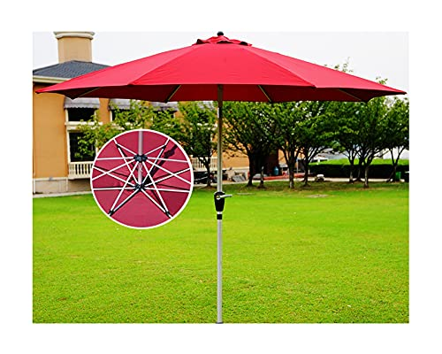 Sombrilla de Aluminio, Parasol Playa Plegable, Sombrilla Playa Proteccion UV, con sistema de elevación de manivela, para jardín, piscina, playa, sombrilla para el mercado al aire libre ( Color : Red )