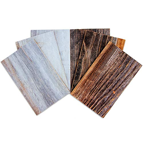 Weekend Walls - Reclaimed Weathered Redwood - DIY Easy Peel and Stick Wood Wall Paneling (Sample Pack, Natural/Silver)