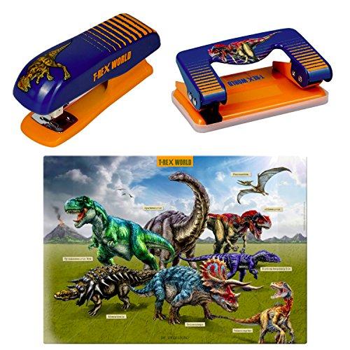 Spiegelburg T-Rex World set van 3 14566 14568 14568 bureaublad + papierhechter + papierperforator