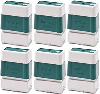 Brother PR1438G6P Self-Inking Stamps (6 Pack), Green for use with SC-2000 and SC-2000USB StampCreator Pro Stamp Systems, Each Stamp Will Produce Up to 50000 Impressions; Size 14mm x 38mm