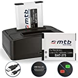 2 Batteries + Double Chargeur (USB) pour DMW-BCM13 /Panasonic Lumix DMC-FT5, TS6,...