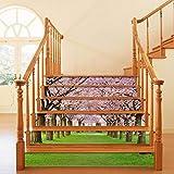 GVRPV Pegatinas para escaleras6 unids/Set 3D azulejo de cerámica Escalera Escalera Piso Pegatina Autoadhesivo DIY Escalera Impermeable PVC Pared calcomanía decoración del hogar