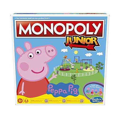 Monopoly Junior: Peppa Pig Edition, Brettspiel für 2 – 4 Spieler, Indoorspiel für Kinder ab 5 Jahren