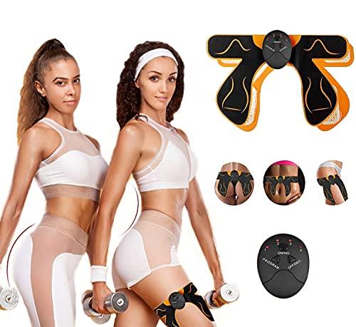CHENAN Elettrostimolatore Muscolare, Elettrostimolatore Glutei, 6 modalità di Simulazione, 10 Livelli di Intensity, Elettrostimolatore per Addominali, Addome Braccio Gambe Waist Glutei Massaggi