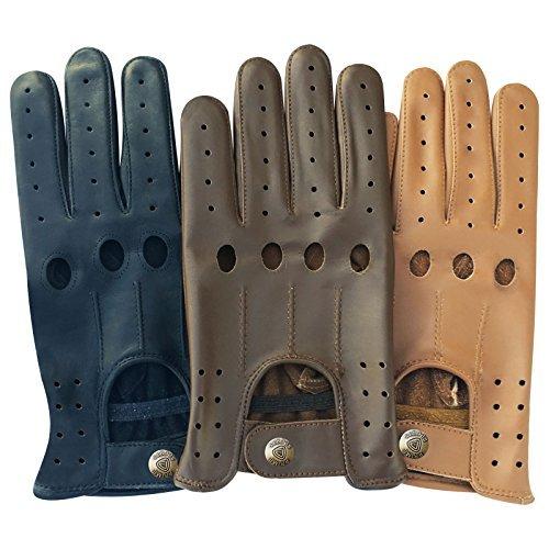 Classique pour Homme en Cuir Nappa de vachette véritable Conduite Moto robe fashion 507Paire de gants Taille S Black-507 petit