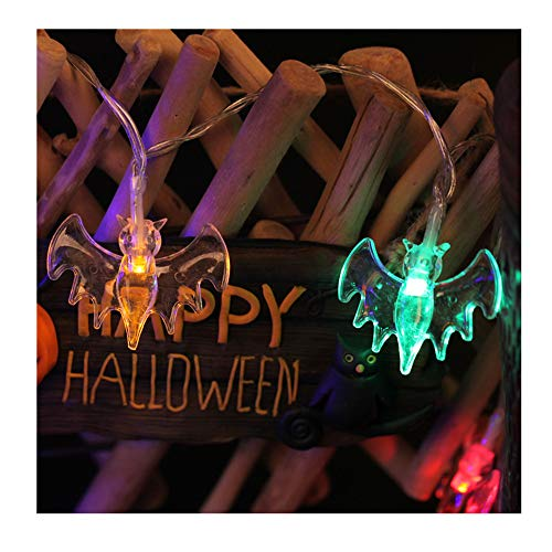 HROIJSL Halloween Warmweiß Bat Vampire LED Lichterketten Halloween Night Party Bar Dekoration Batterie Festliche Partei Liefert Halloween Innen/Außen Haus Deko String Lights Batterien