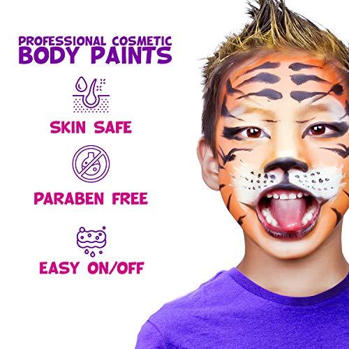 Face Paint Kit for Kids – Blue Squid 12 Color Palette, 30+3...